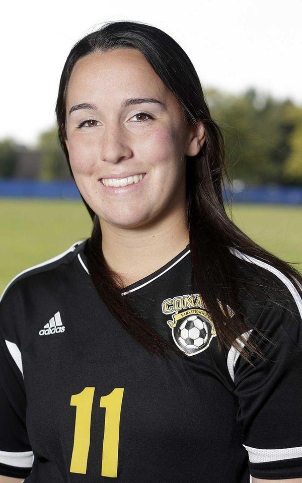 Commack girls soccer player Sam Miller poses during