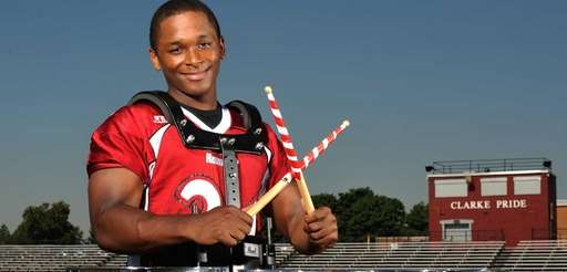 Aaron Dawson of Clarke High School poses for