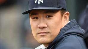 Masahiro Tanaka of the New York Yankees looks