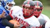 Plainedge quarterback Davien Kuinlan tries to break free
