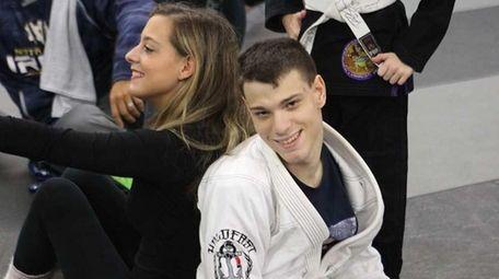 Ian Matuszak, from Westbury, earned his blue belt