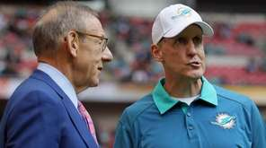 Miami Dolphins owner Stephen Ross, left, and Miami