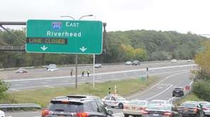 Nassau County police close off on-ramp of the
