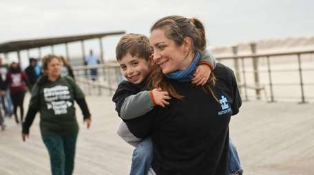Georgia Glick, of Queens, and her son Lucas,
