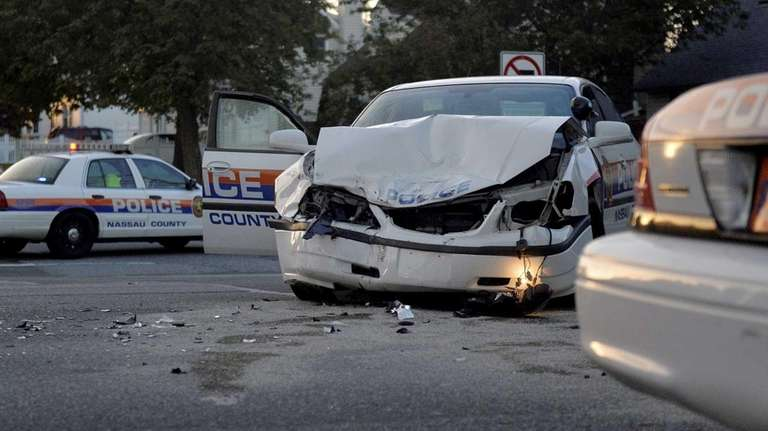 A police cruiser was involved in an accident