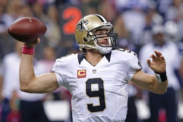 New Orleans Saints quarterback Drew Brees (9) passes