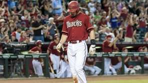 Paul Goldschmidt #44 of the Arizona Diamondbacks scores