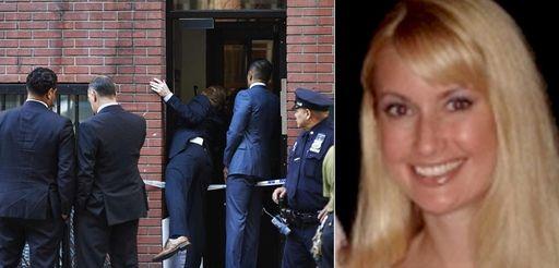 Police investigate the scene, left, where Kiersten Cerveny,