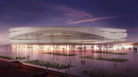 A rendering of the Nassau Veteran Memorial Coliseum