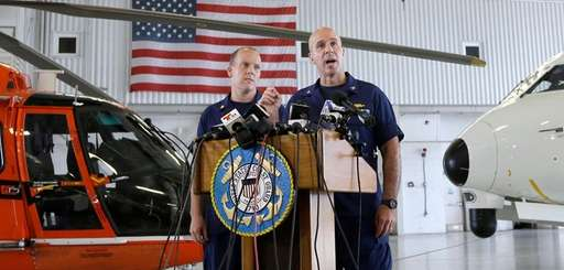 Capt. Mark Fedor, right, chief of response for