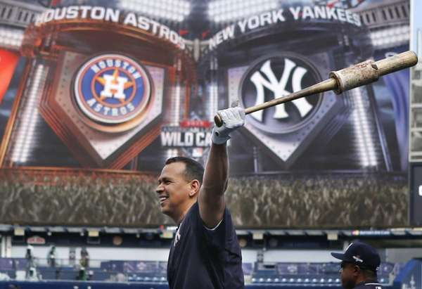 New York Yankees designated hitter Alex Rodriguez swings