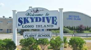 The exterior of Skydive Long Island in Calverton
