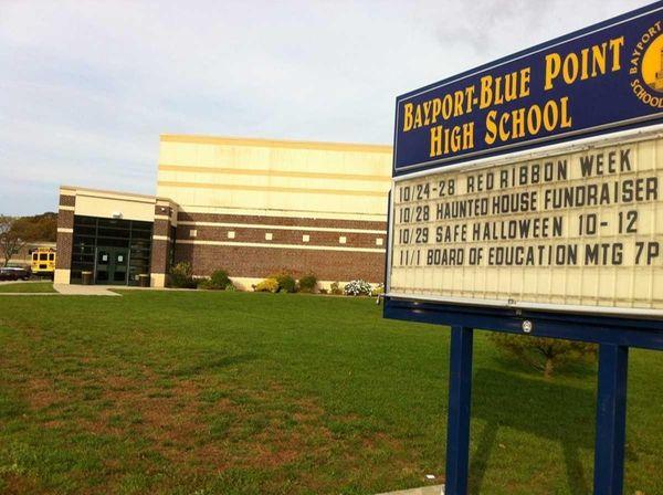 Bayport-Blue Point High School is seen on Oct.