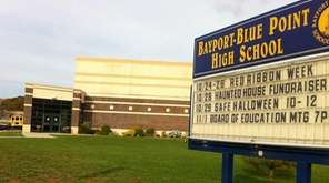 Bayport-Blue Point High School is seen on Oct.