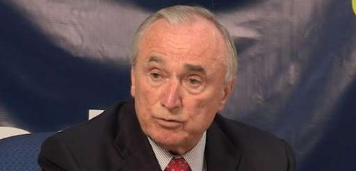 NYPD Commissioner William Bratton speaks to the Newsday
