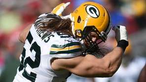 Inside linebacker Clay Matthews of the Green Bay