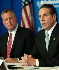 Mayor Bill de Blasio and Gov. Andrew M.