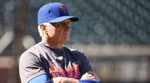 New York Mets manager Terry Collins watches his