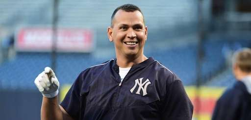 New York Yankees designated hitter Alex Rodriguez looks
