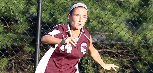 Garden City's Isabel Klatt kicks the ball across