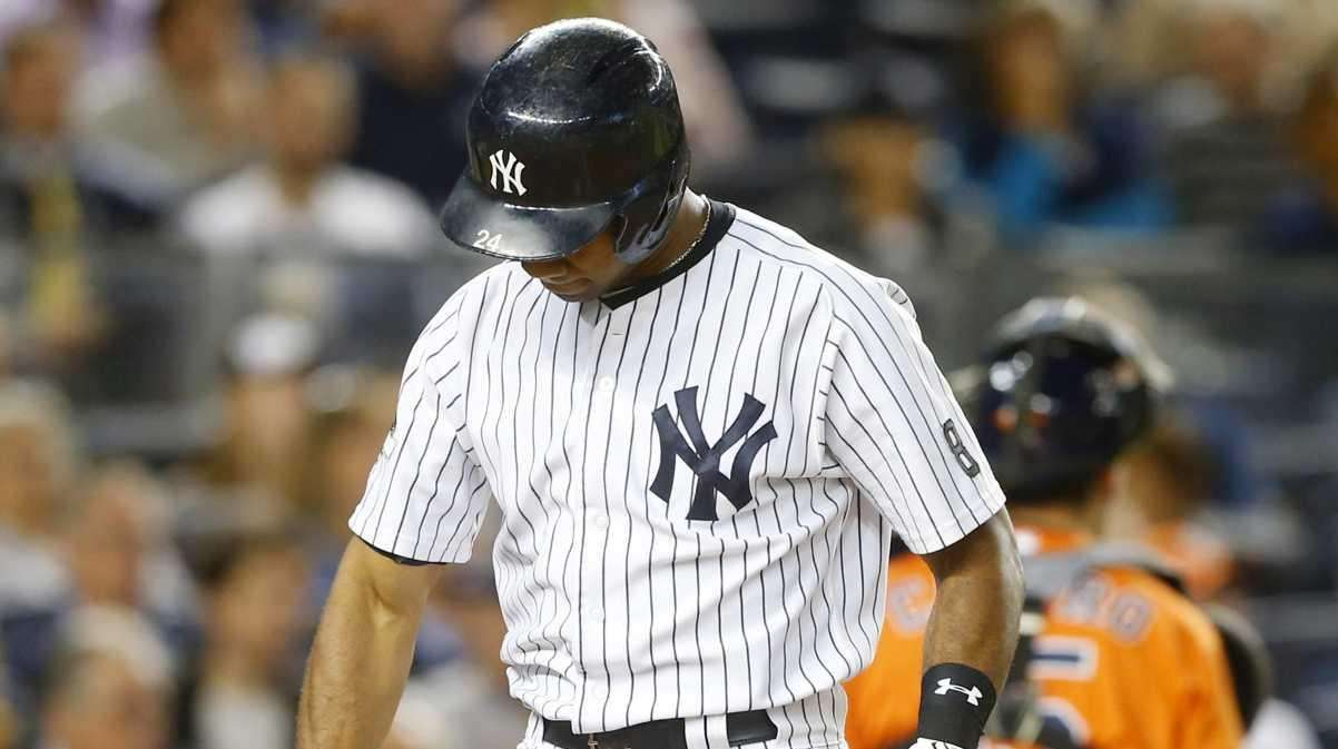 Chris Young #24 of the New York Yankees