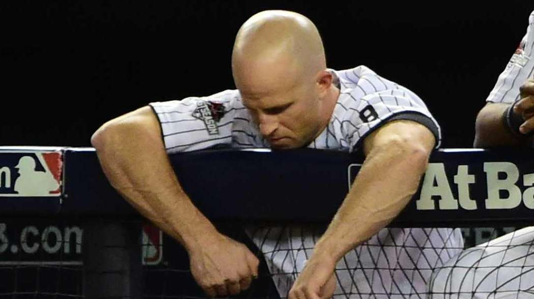 New York Yankees leftfielder Brett Gardner and New