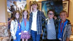 Actor Levi Miller with kidsday reporter Ella Mesi,