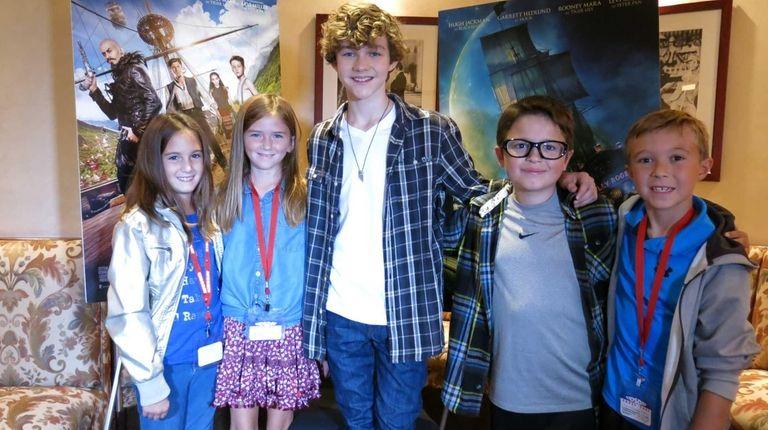 Actor Levi Miller with kidsday reporter Ella Mesi,