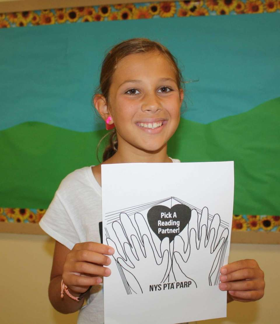 Alexis Raynor, 9, a fourth-grader at Marion Street
