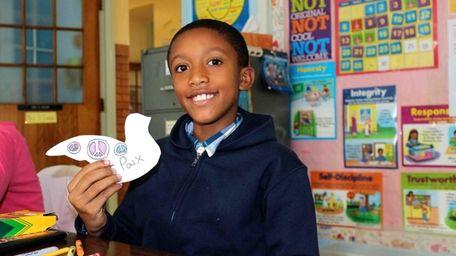 Mekhi Ludy, a fifth-grader at Alden Terrace Elementary