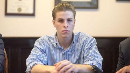 Leo Duchnowski, 24, of Glen Cove, at his