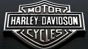 The Harley Davidson logo is seen Monday, Oct.