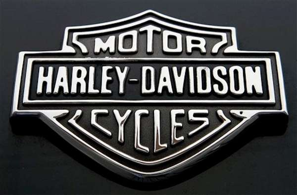 The Harley Davidson logo on Monday, Oct. 17,