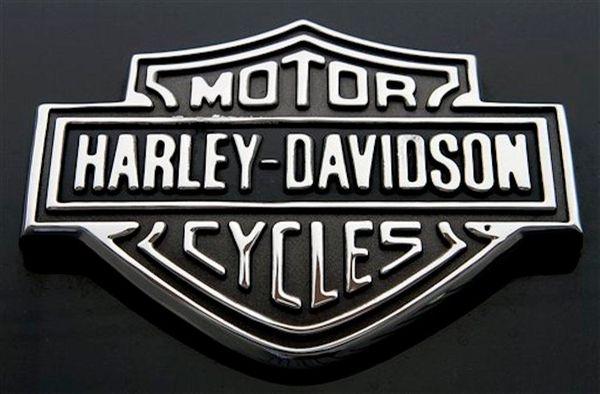 The Harley Davidson logo on Monday, Oct. 17,