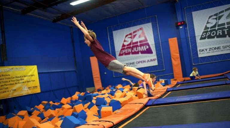 Sky Zone in Mount Sinai is hosting a