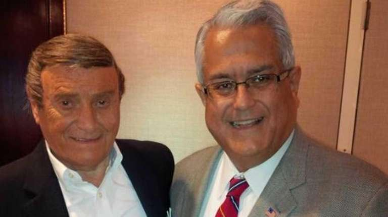 Anthony Santino, right, a Republican who is running