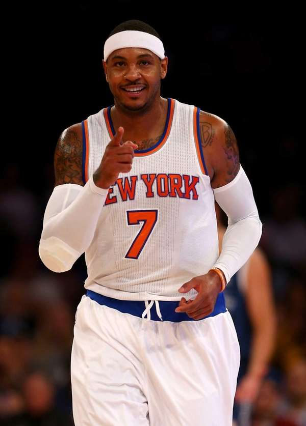 Carmelo Anthony #7 of the New York Knicks