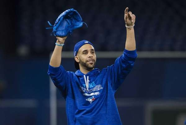 Toronto Blue Jays starting pitcher David Price gestures