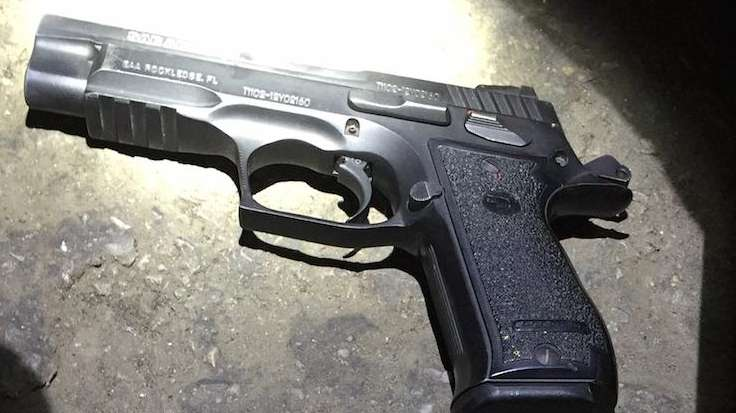 This gun was recovered at the scene of