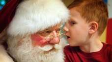 Santa Claus makes a public appearance and listens