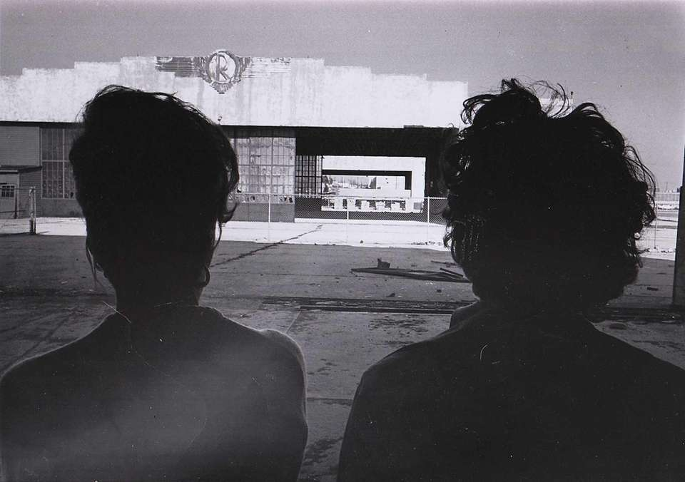 On March 27, 1963, two women look at