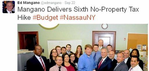 A tweet posted on Nassau County Executive Edward