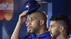 Toronto Blue Jays starting pitcher David Price looks