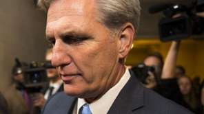 House Majority Leader Kevin McCarthy of Calif. walks