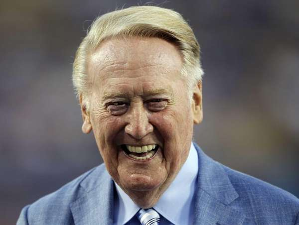 Los Angeles Dodgers broadcaster Vin Scully is honored