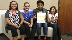 Pharrell Williams met with Kidsday reporters Danielle Levitt,