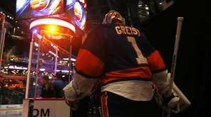 Thomas Greiss of the New York Islanders leads