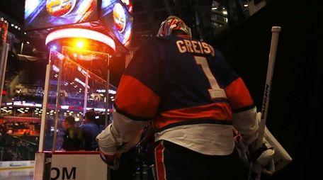 Thomas Greiss of the New York Islanders leads