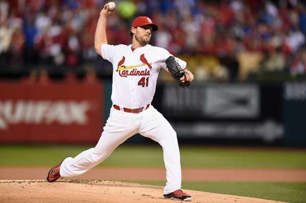 John Lackey of the St. Louis Cardinals throws