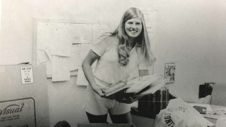 Susan Petersen Lubow at her first day on